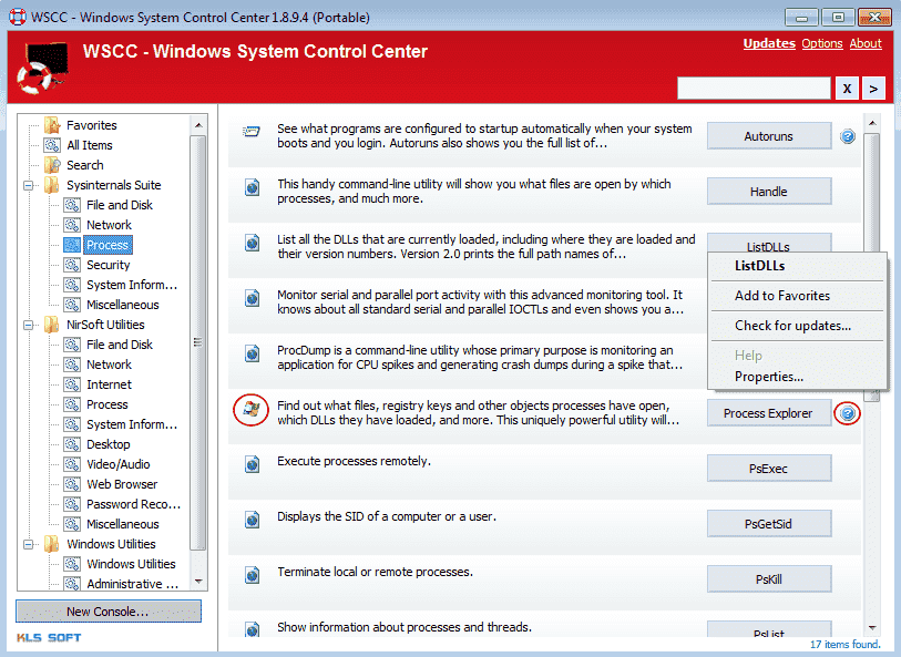 FREE: Windows System Control Center – Launch Sysinternals