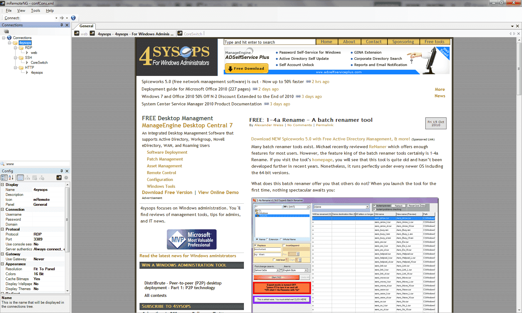 FREE: mRemoteNG – Open source, multi-protocol, remote connection