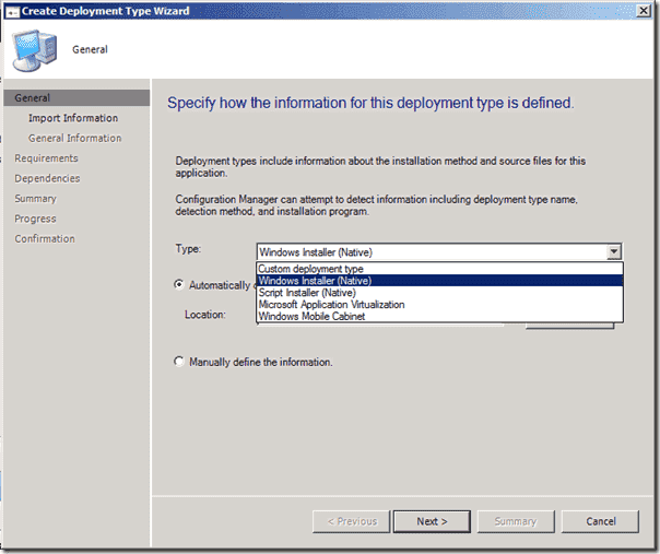 System Center Configuration Manager v.Next - Deployment Types