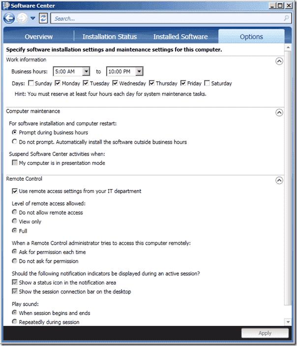 System Center Configuration Manager v.Next - Software Center