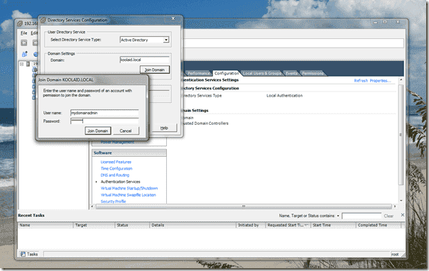 Add VMware vSphere 4.1 ESX/ESXi hosts to Active Directory - ADUC after joining AD