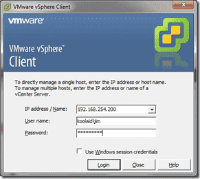 Add vSphere 4.1 ESX/ESXi hosts to Active Directory - ADUC after viclient login