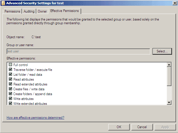 how to change permissions of a directory in windows