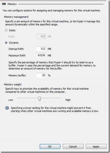 Hyper-V Monitoring Hyper-V - Memory Config SP1