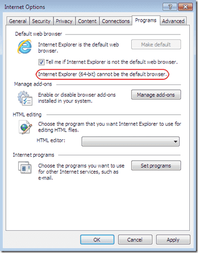 Internet Explorer 64 bit vs. 32 bit - IE 64 bit default browser