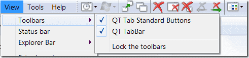 Windows Explorer tabs - QTTabBar - Enable toolbars
