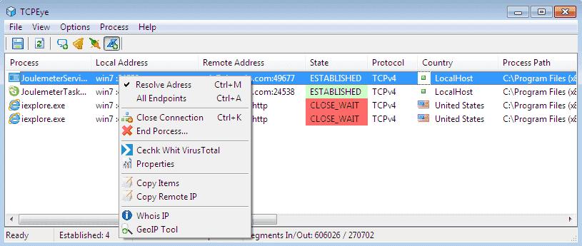 FREE: TCPEye – Live netstat command – 4sysops