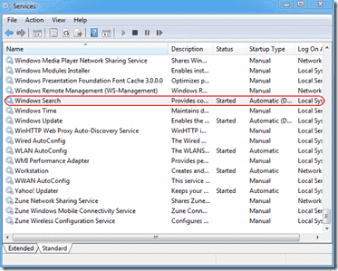 Turn off indexing Windows 7 and Vista - Windows Search service