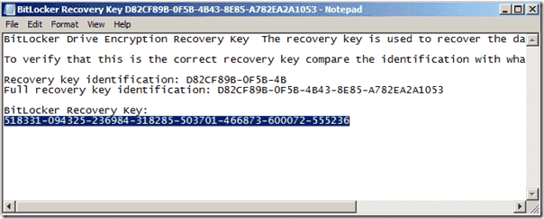 Unlock BitLocker Windows PE - Recovery Key