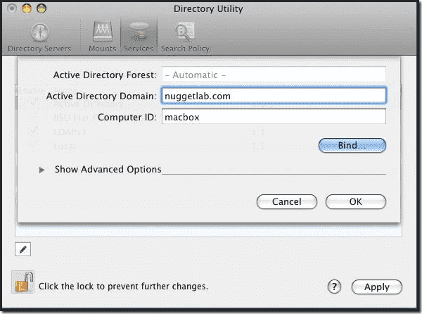 search active directory from mac