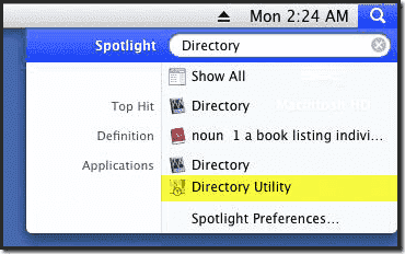 Mac OS X Active Directory Join - Directory Utility