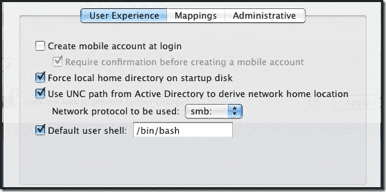 Mac OS X Active Directory Join - User Experience