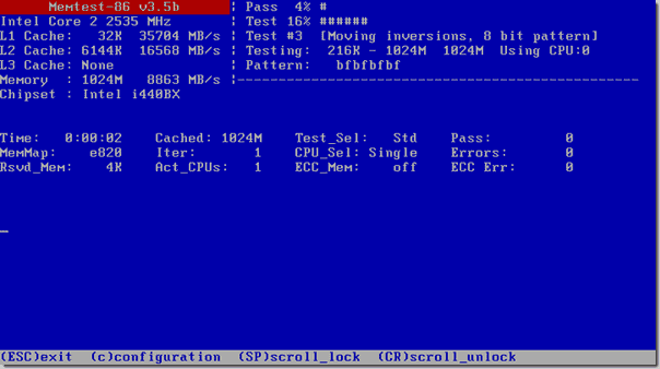 Memory Diagnostic Tool - Memtest86