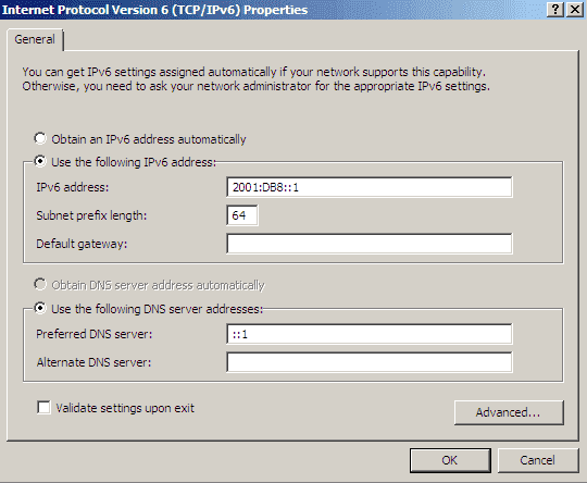 How to install a DHCP server for IPv6 (DHCPv6) on Windows