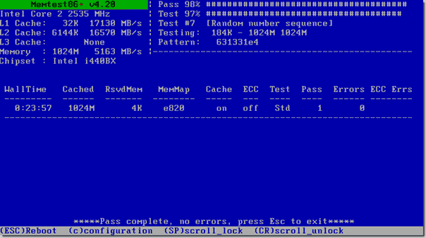 Free memory test software tool - Memtest86+