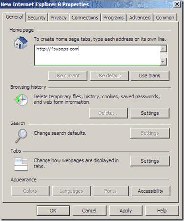 Group Policy Prefenrences - Internet Explorer 9 Homepage