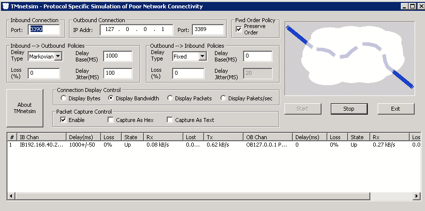 FREE: TMnetSim Network Simulator – Simulate network latency and
