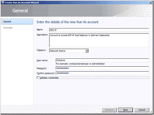 System Center Virtual Machine Manager 2012 - Create Run As Account