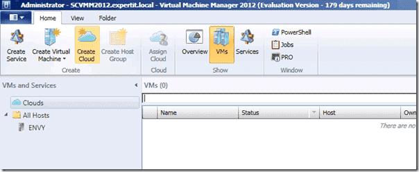 System Center Virtua Machine Manager 2012 - Private Cloud