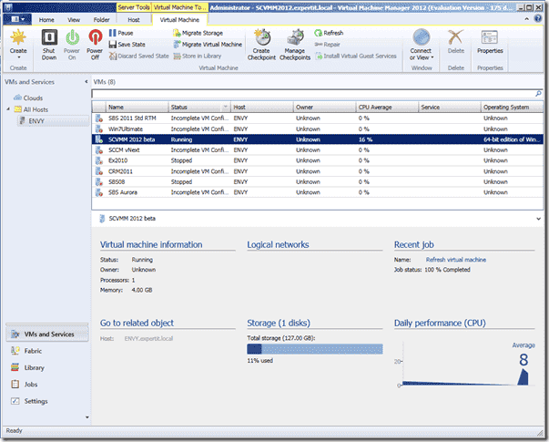 System Center Virtual Machine Manager 2012 - What s new - Installation