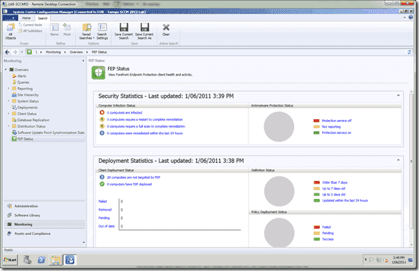 Forefront Endpoint Protection Installation- Configuration Manager Integration