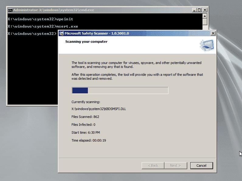 Offline Antivirus – How to run Microsoft Safety Scanner on Windows