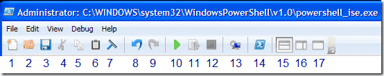 Run.PowerShell.Script.The.PowerShell.ISE.toolbar