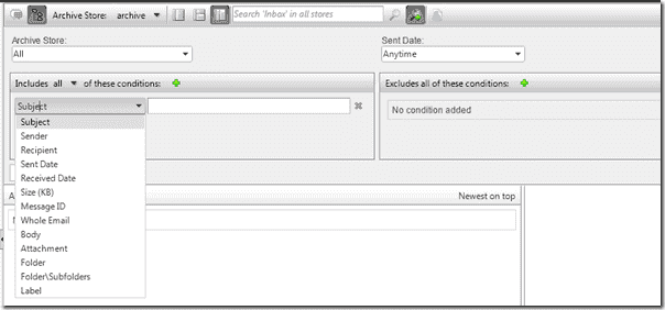 Email Archiving Software - GFI MailArchiver Search