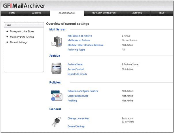 Email Archiving Software - GFI MailArchiver