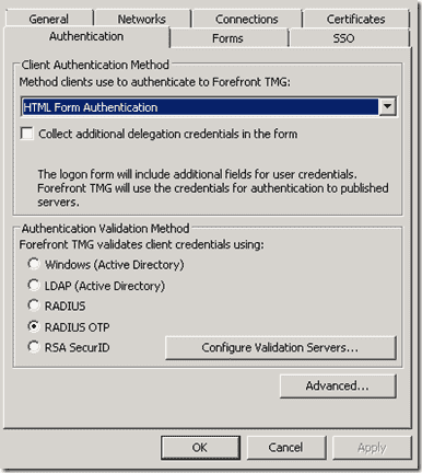 One-time passwords - Authentication Validation Method