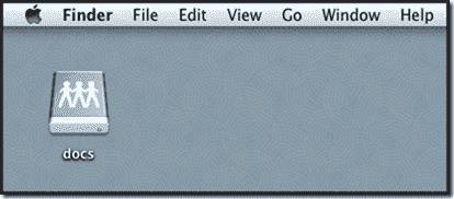 Windows share on Mac OS X - A mounted SMB share