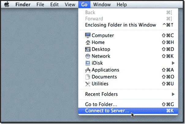Windows share on Mac OS X -  Connecting to a remote server in Mac OS X