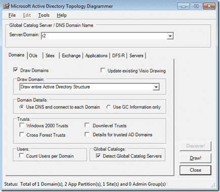Active Directory Topology Diagrammer -Domains
