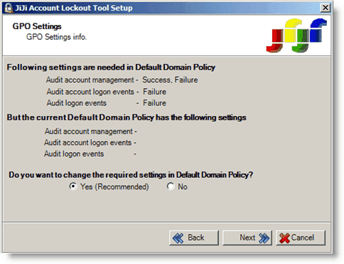 JiJi Account Lockout Tool - Analyzing current domain policy