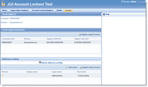 JiJi Account Lockout Tool - Specifying JALT administrators