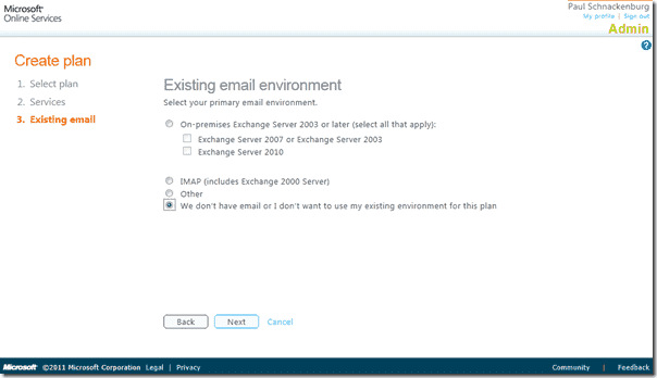 Office 365 review -Deployment Plan Existing Email