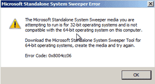 Standalone Antivirus Tool - Microsoft Standalone System Sweeper - 32-bit vs. 64-bit
