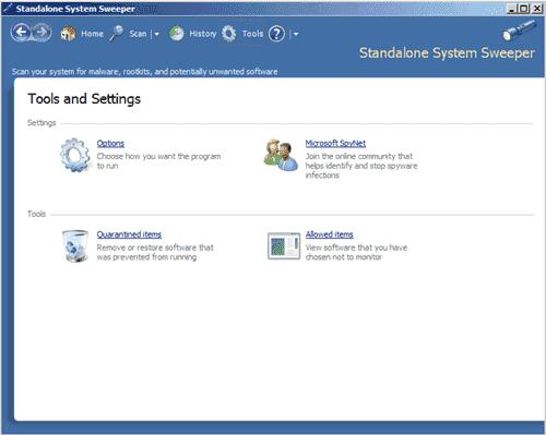 Standalone Antivirus Tool - Microsoft Standalone System Sweeper