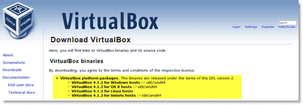 Downloading VirtualBox - Downloading VirtualBox