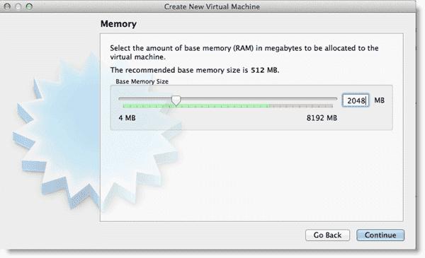 Install Windows 8 - Allocating RAM