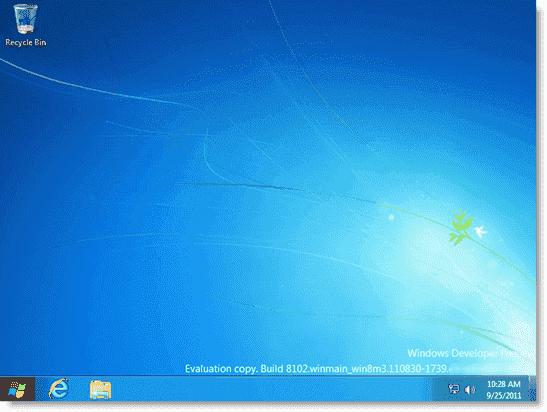 Install Windows 8 - Classic mode UI