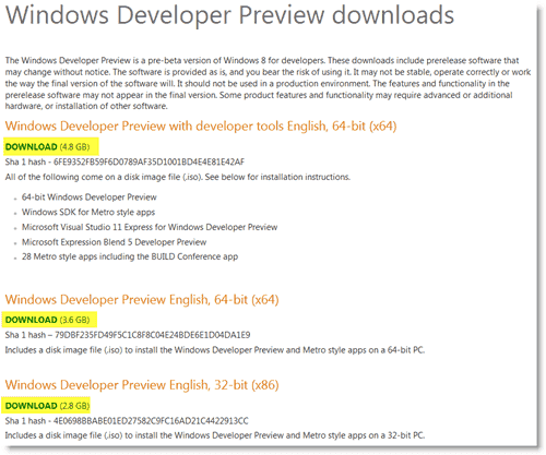 Install Windows 8 - Downloading the Windows 8 Developer Preview