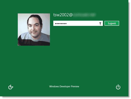 Install Windows 8 - Logging on to Windows 8