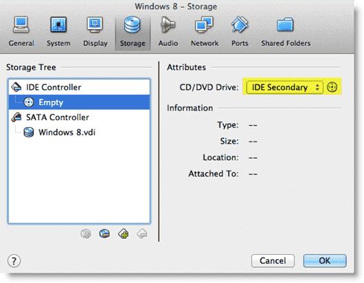Install Windows 8 - Mounting the Windows 8 DVD image