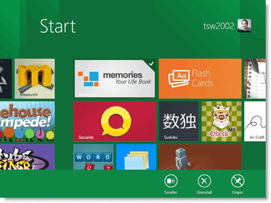 Install Windows 8 - Setting tile options