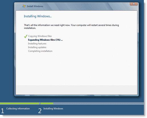 Install Windows 8 - Windows 8 installation process