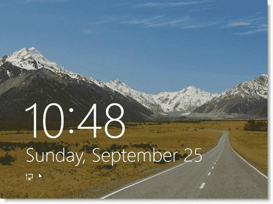 Install Windows 8 - Windows 8 lock screen