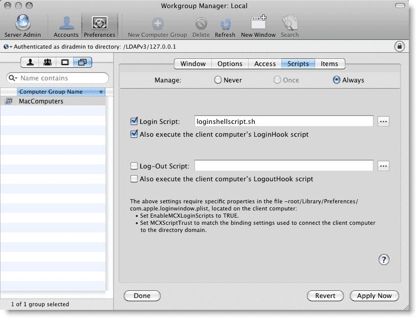 ad logon script for mac