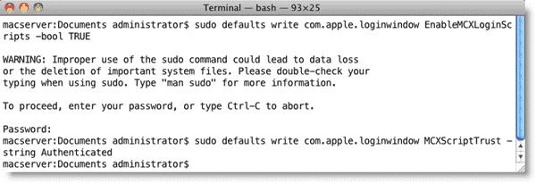Open Directory Mac OS X - Preparing Mac clients for enterprise login scripts