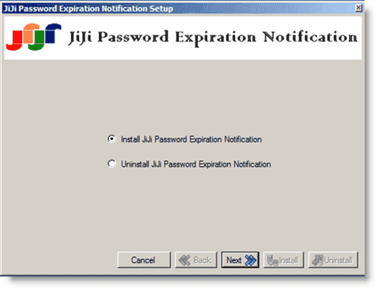 Acccount and Password expiration - JiPEN setup